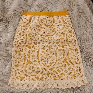 Beautiful yellow and cream Odille skirt